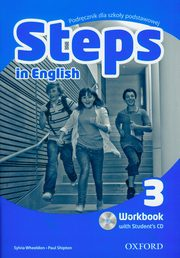 ksiazka tytuł: Steps in English 3 Workbook + CD autor: Wheeldon Sylvia, Shipton Paul