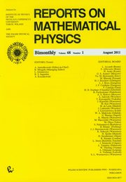 ksiazka tytuł: Reports on Mathematical Physics 68/1 Kraj autor: