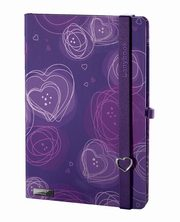 Notes A6 Dreamy Love fioletowy kratka,